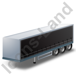 Curtain Side Trailer Black Icon