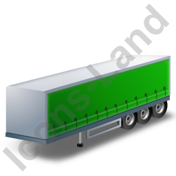 Curtain Side Trailer Green Icon