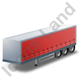 Curtain Side Trailer Red Icon