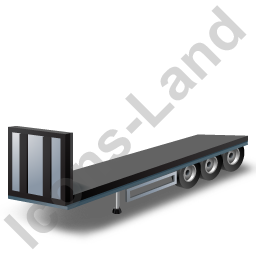 Flatbed Trailer Bulkhead Black Icon