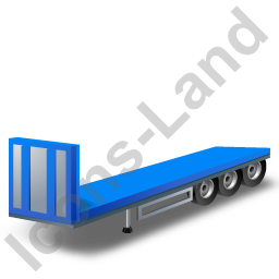 Flatbed Trailer Bulkhead Blue Icon, PNG/ICO, 256x256