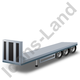 Flatbed Trailer Bulkhead Grey Icon