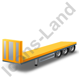 Flatbed Trailer Bulkhead Yellow Icon