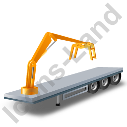 Flatbed Trailer Loader Crane Head Yellow Icon