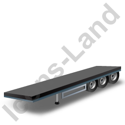 Flatbed Trailer Black Icon, PNG/ICO, 256x256