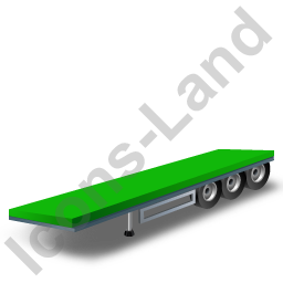 Flatbed Trailer Green Icon