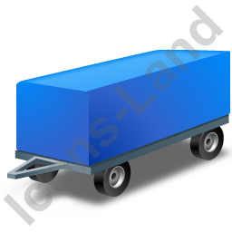 Full Trailer Blue Icon
