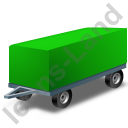 Full Trailer Green Icon, PNG/ICO, 256x256