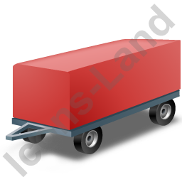 Full Trailer Red Icon, PNG/ICO, 256x256