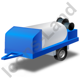 Jetter Trailer Blue Icon, PNG/ICO, 256x256