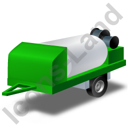 Jetter Trailer Green Icon, PNG/ICO, 256x256