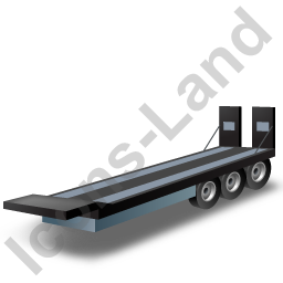 Plant Trailer Black Icon
