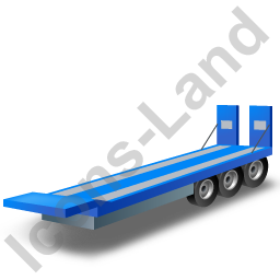 Plant Trailer Blue Icon