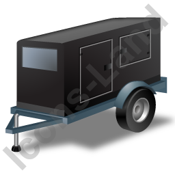 Super Silent Generator Trailer Black Icon