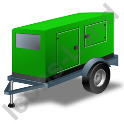 Super Silent Generator Trailer Green Icon