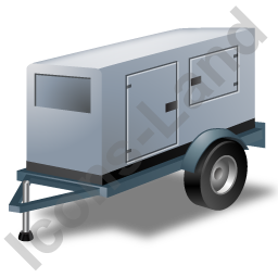 Super Silent Generator Trailer Grey Icon