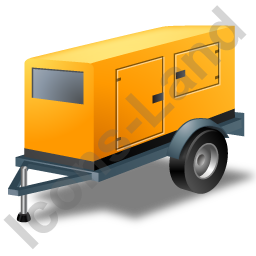 Super Silent Generator Trailer Yellow Icon, PNG/ICO, 256x256