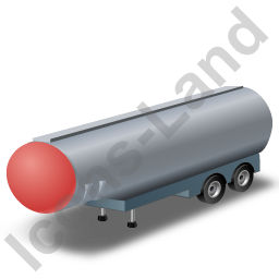 Tanker Trailer 2 Red Icon