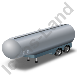 Tanker Trailer Grey Icon