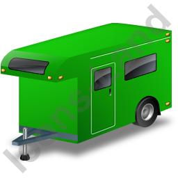 Travel Trailer Green Icon
