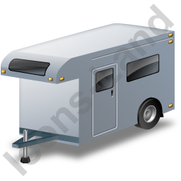 Travel Trailer Grey Icon, PNG/ICO, 256x256