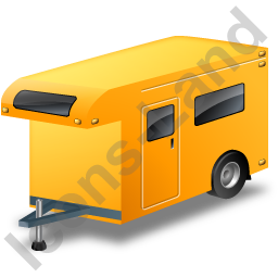 Travel Trailer Yellow Icon