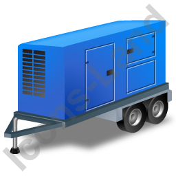 Ultra Silent Generator Trailer Blue Icon, PNG/ICO, 256x256