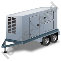 Ultra Silent Generator Trailer Grey Icon, PNG/ICO, 256x256