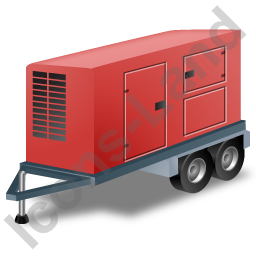Ultra Silent Generator Trailer Red Icon
