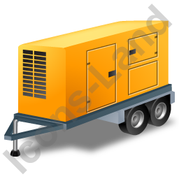 Ultra Silent Generator Trailer Yellow Icon