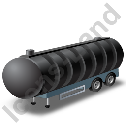 Waste Tanker Trailer Black Icon, PNG/ICO, 256x256