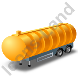 Waste Tanker Trailer Yellow Icon, PNG/ICO, 256x256