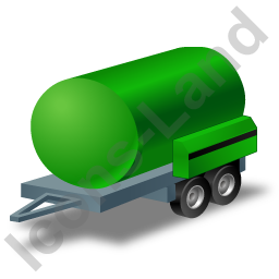 Water Bowser Trailer Green Icon, PNG/ICO, 256x256