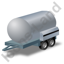 Water Bowser Trailer Grey Icon