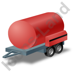 Water Bowser Trailer Red Icon