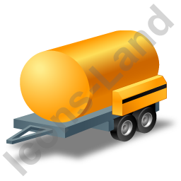 Water Bowser Trailer Yellow Icon