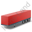 Box Trailer Red Icon