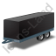 Car Trailer Black Icon