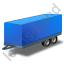 Car Trailer Blue Icon, PNG/ICO, 64x64