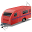Caravan Red Icon, PNG/ICO, 64x64