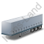 Curtain Side Trailer Grey Icon