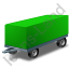 Full Trailer Green Icon, PNG/ICO, 64x64