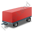 Full Trailer Red Icon, PNG/ICO, 64x64