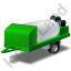 Jetter Trailer Green Icon, PNG/ICO, 64x64