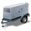 Super Silent Generator Trailer Grey Icon, PNG/ICO, 64x64