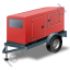 Super Silent Generator Trailer Red Icon