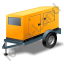 Super Silent Generator Trailer Yellow Icon, PNG/ICO, 64x64