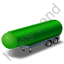 Tanker Trailer Green Icon