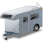 Travel Trailer Grey Icon, PNG/ICO, 64x64