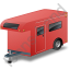 Travel Trailer Red Icon